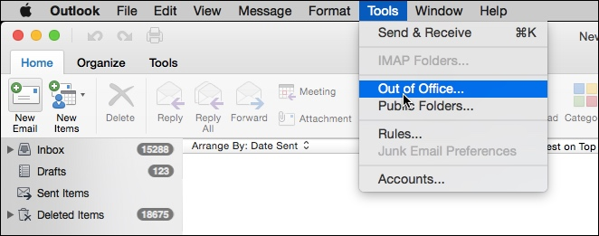 Outlook for Mac - How To Enable Out of Office Assistant