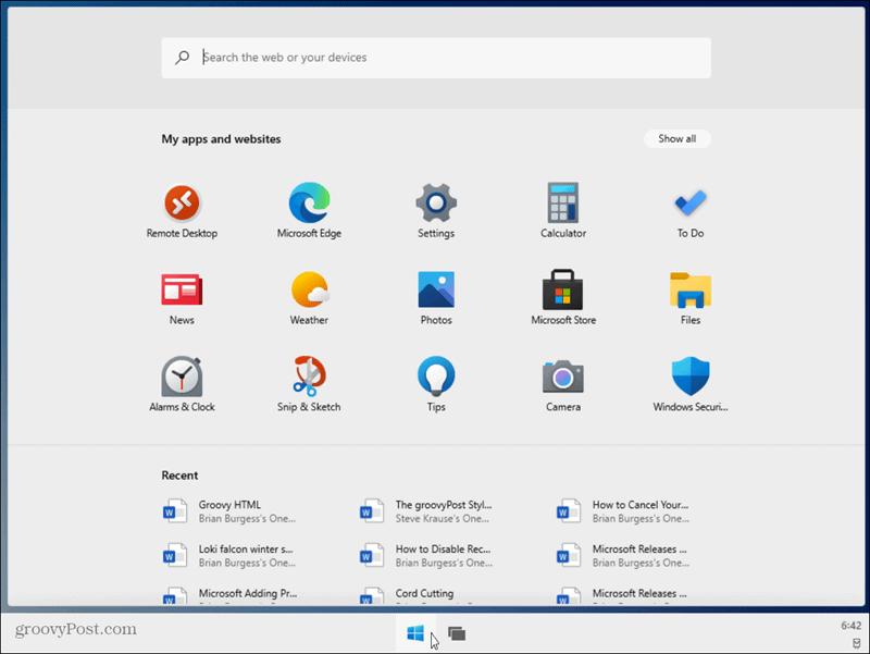 example of Windows 10X single-screen